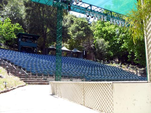 The outdoor seating of the Garden Theatre
